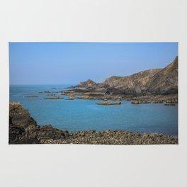 Devon Coastline. Rug