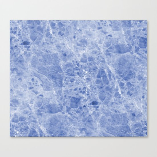 Juliette blue marble Canvas Print