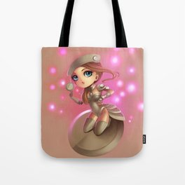 Button Girl  Tote Bag