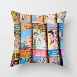 Vintage Romance Collage Throw Pillow