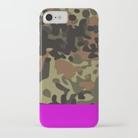 jay fleck iPhone & iPod Cases featuring Magenta Fleck Tarn Camo by Derek Boman
