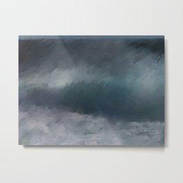 Blue Stormy Sea Metal Print