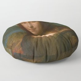 Mona Lisa Classic Leonardo Da Vinci Painting Floor Pillow