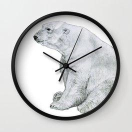 Chubby Polar Bear Wall Clock