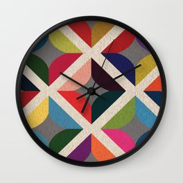 Colourful Geometric Wall Clock
