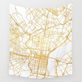 PHILADELPHIA PENNSYLVANIA CITY STREET MAP ART Wall Tapestry