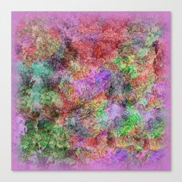 Colorful Abstract Water Color Misty Swirls Design Canvas Print