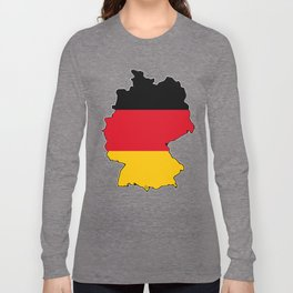 Germany Map with German Flag Long Sleeve T-shirt