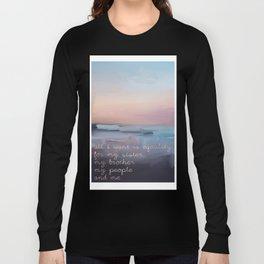 Nina Simone Quote Lyrics Long Sleeve T-shirt