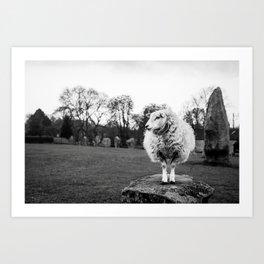 Avebury Sheep Art Print
