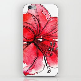 Red Lily iPhone Skin