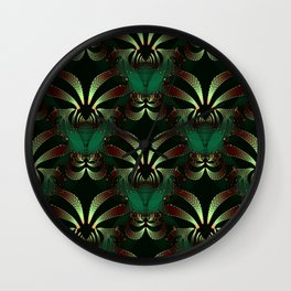 Jewels of Garnet and Emerald Abstract #212 Wall Clock