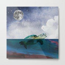 Midnight Swim Metal Print
