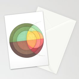 Concentric Circles Forming Equal Areas Stationery Cards