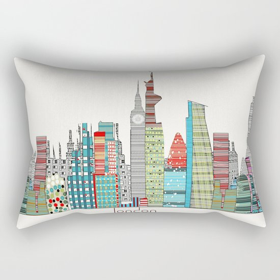 London city skyline  Rectangular Pillow