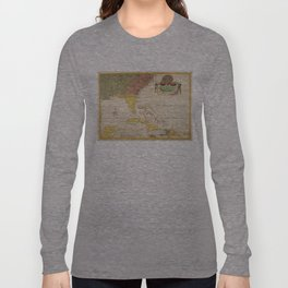 Vintage Map of The Caribbean (1754) Long Sleeve T-shirt