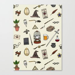 Harry Pattern Canvas Print