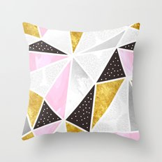 Abstract triangle textures Throw Pillow