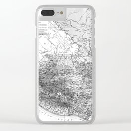 Vintage Map of Guatemala (1902) BW Clear iPhone Case