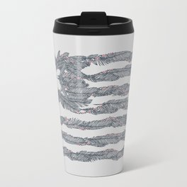America Feather Flag Travel Mug