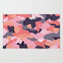 Pink camouflage Rug