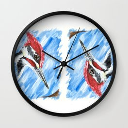 Pileated Portrait Wall Clock