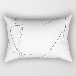 folded arms with cigarette Rectangular Pillow