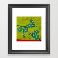 Flowers: Forget me not Framed Art Print