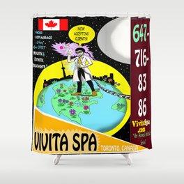 Vivita Spa, Toronto, Canada, Commercial Advert Artwork Shower Curtain