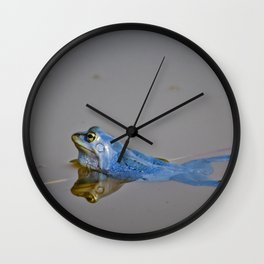 Blue Frogs 04 - Rana arvalis Wall Clock