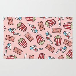 Movie Pattern in Pastel Pink Rug