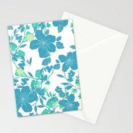 Botanical Blues Stationery Cards