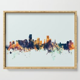 Miami Florida Skyline Serving Tray