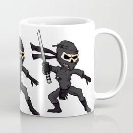 skull ninja cartoon. Coffee Mug