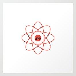 Atom Bike Art Print
