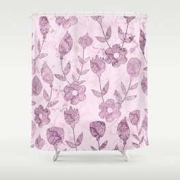 Watercolor Floral VV Shower Curtain