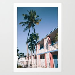 Motel Palms Art Print