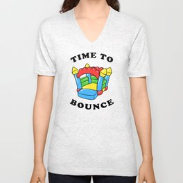 Time To Bounce Unisex V-Neck