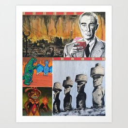 Oppenheimer's Deadly Tiki Toys Art Print