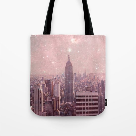 Stardust Covering New York Tote Bag