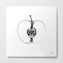 Poisonous Apple Metal Print