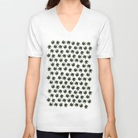 cannabis V-neck T-shirts featuring Cannabis by WeedPornDaily