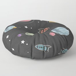 retro space pattern Floor Pillow
