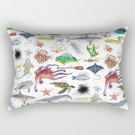 Under the Sea Alphabet Rectangular Pillow