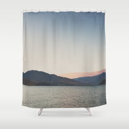 sunset over the lake ... Shower Curtain