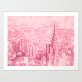 Pink and Bubbly New York City Art Print