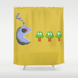 March of Progress | videogame #tribute | #pixelart Shower Curtain