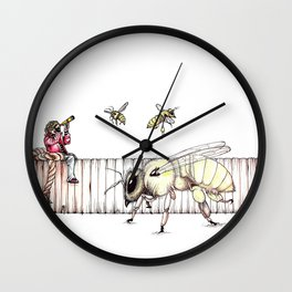 The Last Bee-Fence Wall Clock