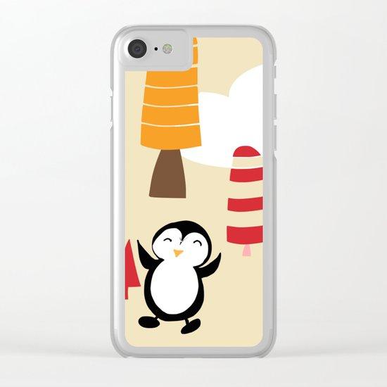 Oriana Penguin Clear iPhone Case