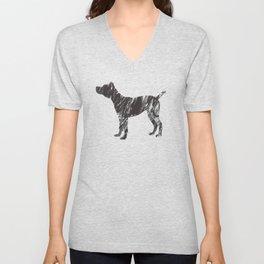 black dog Unisex V-Neck